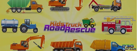 بازی Kids Truck Adventure: Road Rescue Car Wash Repair