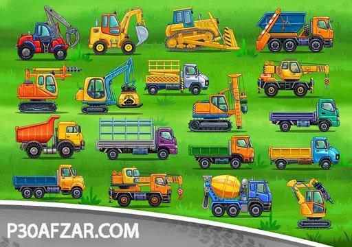 بازی کودکانه کامیون برای بچه ها - خانه سازی ماشین شستشو